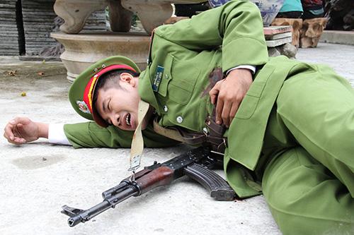 Diễn viên Bá Cường trong phim Những đứa con biệt động Sài Gòn.