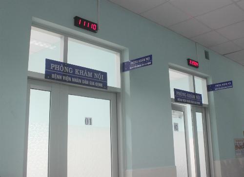 Các bệnh viện trực tiếp đặt phòng khám vệ tinh tại Bệnh viện huyện Củ Chi. Ảnh: Lê Phương.