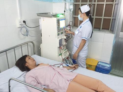 Phòng lọc thận được đặt hai máy để phục vụ bệnh nhân tại Trạm Y tế phường Bình Chiểu quận Thủ Đức