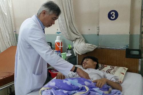 Bệnh nhân hồi phục khỏe mạnh sau can thiệp. Ảnh: T.N