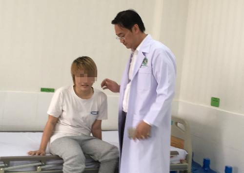 Bệnh nhân hồi phục tốt sau quá trình vật lý trị liệu. Ảnh: T.P