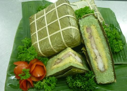 Bánh chưng, bánh tét là những món sử dụng nếp chứa rất nhiều tinh bột trong một miếng nhỏ. Ảnh minh họa: vietq