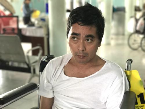 Diễn viên Nguyễn Hoàng vẫn chưa thể nói chuyện tháng tai biến. Ảnh: Thiên Chương
