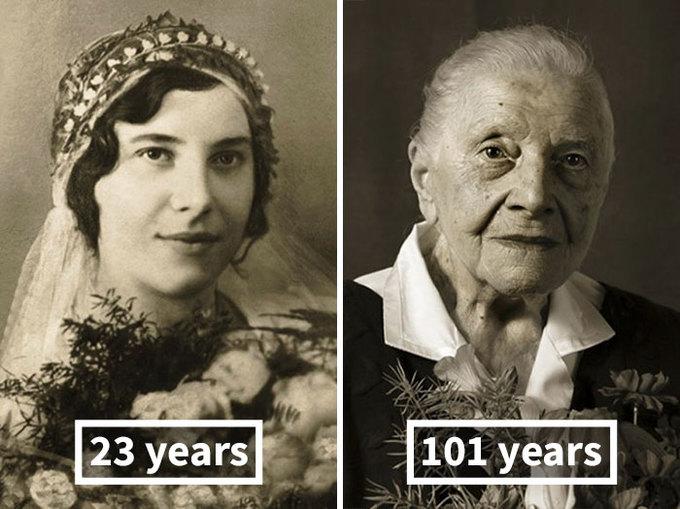 Dấu vết thời gian của con người từ thuở 20 đến 100 tuổi