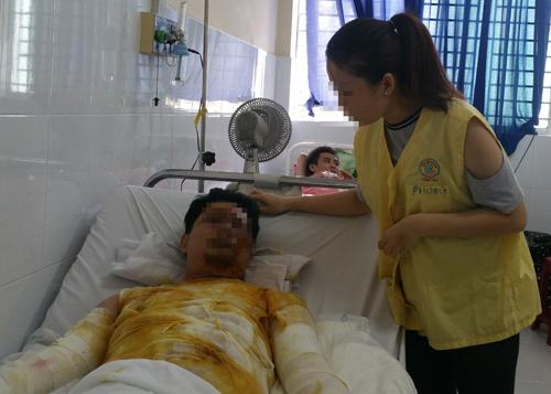 Bệnh nhân đang điều trị tại Bệnh viện Chợ Rẫy. Ảnh: T.P