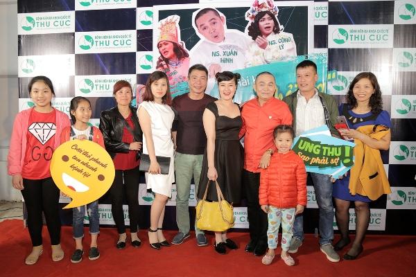 Các nghệ sĩ Vân Dung, Xuân Hinh, Công Lý, Quân Anh, Minh Tít& tham gia chiến dịch nâng cao nhận thức về ung thư.