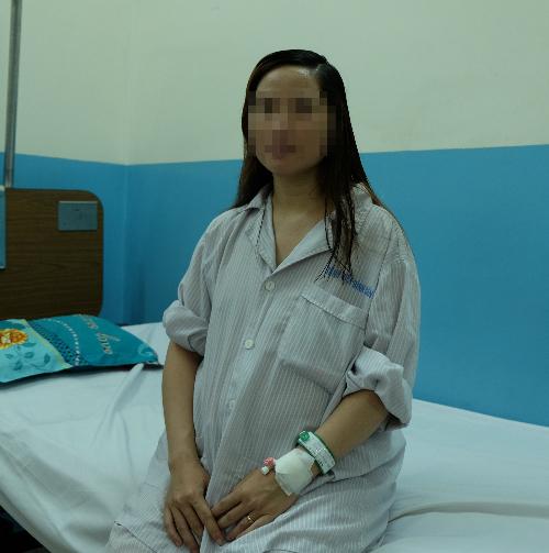 Bệnh nhân khỏe mạnh sau mổ ruột thừa tại Bệnh viện Bình Dân. Ảnh: T.P