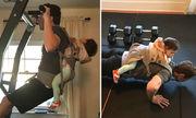 Ông chủ Facebook địu con gái tập gym gây sốt