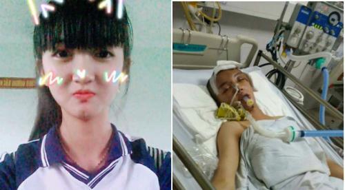 Bích Hậu trước và sau khi gặp tai nạn. Ảnh: T.P