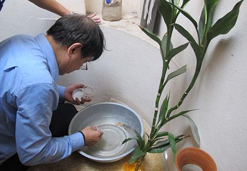 Nhiều ổ bọ gậy được phát hiện ở điểm nóng sốt xuất huyết Hà Nội