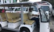Bệnh viện Ung bướu TP HCM tổ chức xe điện chở người bệnh