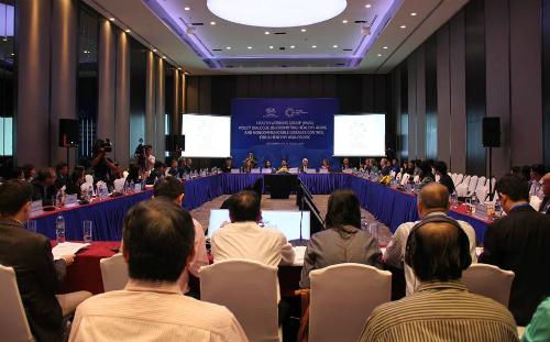 Hội nghị quan chức cấp cao APEC đối thoại chính sách về người cao tuổi chiều 22/8 tại TP HCM. Ảnh: T.D