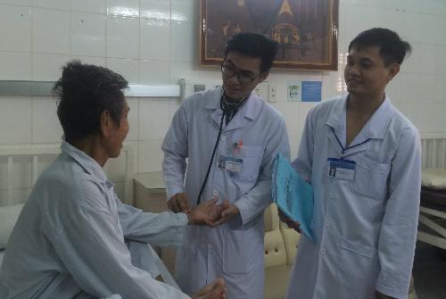 Bệnh nhân hồi phục khoẻ mạnh sau ca can thiệp. Ảnh: Lê Phương.