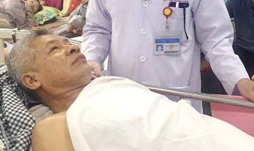Hai viện cách xa 20 km phối hợp cứu bệnh nhân nguy kịch trên bàn mổ