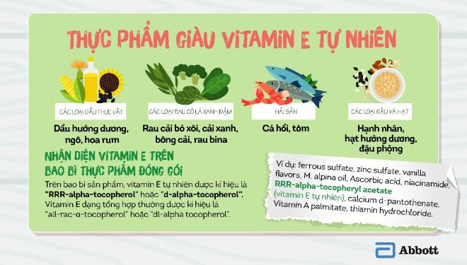 Bổ sung đa dạng thực phẩm giàu Vitamin E tự nhiên cho trẻ
