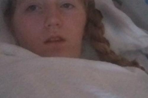 Lindsay trên giường bệnh. Ảnh: Charles Ellis.