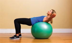 Tập với quả bóng để cơ thể linh hoạt