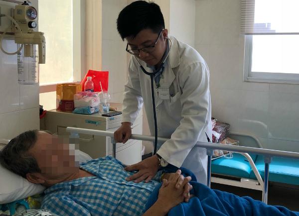 Bệnh nhân hồi phục sức khỏe sau can thiệp. Ảnh: D.P