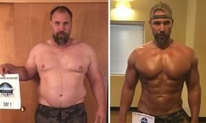 Ông bố giảm gần 40 kg trong 150 ngày
