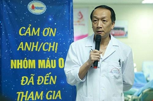 Tiến sĩ Bạch Quốc Khánh, Viện trưởng Viện Huyết học - Truyền máu Trung ương. Ảnh: V.T.