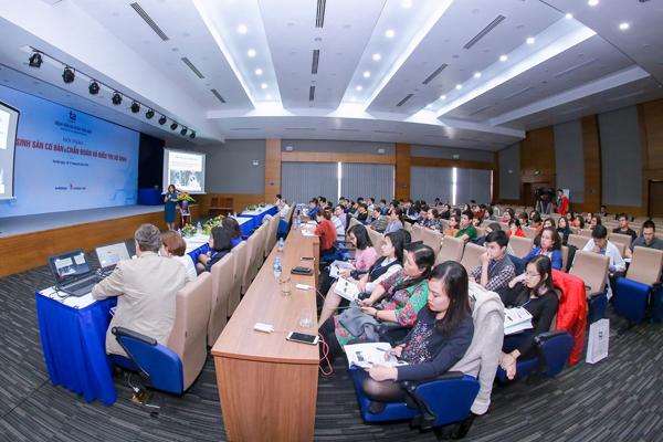 Gần 100 bác sĩ tham giac hội thảo Nội tiết sinh sản cơ bản và Chẩn đoán, điều trị vô sinh tổ chức tại BVĐK Tâm Anh, Hà Nội.