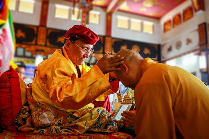 Đức Drukpa khai đàn ở TP HCM cầu quốc thái dân an