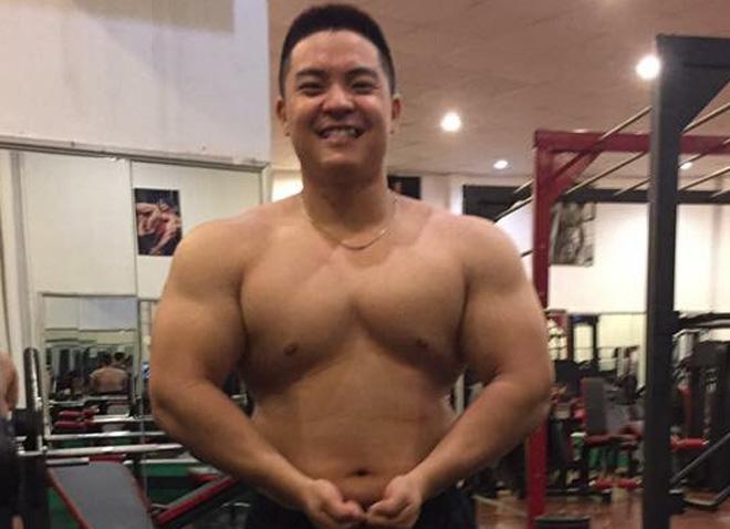 Huy béo trước khi tập gym. Ảnh do nhân vật cung cấp.