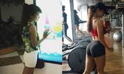 Tập gym biến cô gái trẻ gầy còm thành vóc dáng nóng bỏng