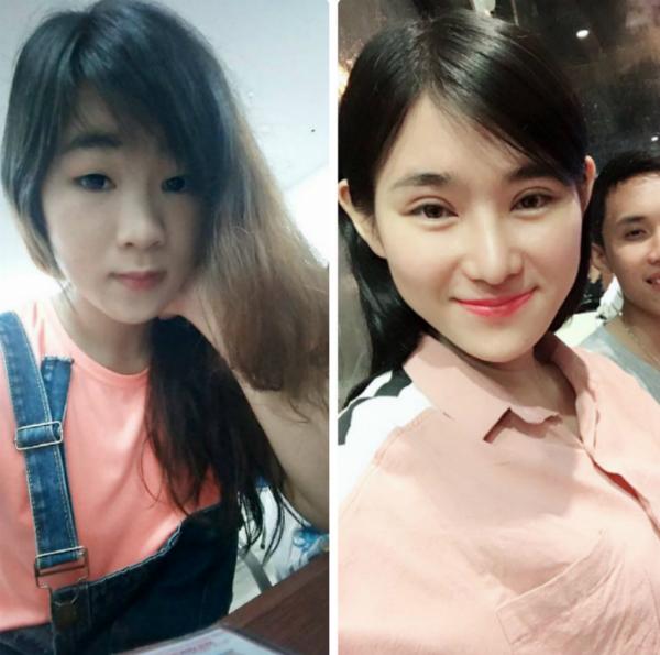 Khánh Linh thay đổi diện mạo sau khi cắt mí.