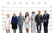 Chiều cao ấn tượng của các thành viên Hoàng gia Anh