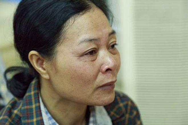 Chị Lương khi nhắc đến con gái đã mất. Ảnh: Công Thắng.