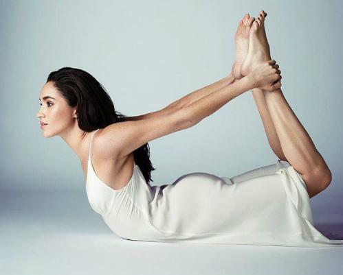 Meghan duy trì thói quen tập yoga đều đặn. Ảnh: Instagram.