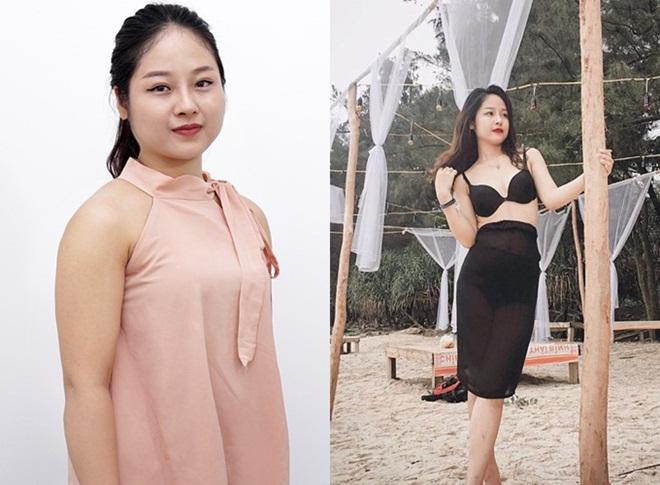 Hình ảnh trước đây và hiện tại của chị Hương.