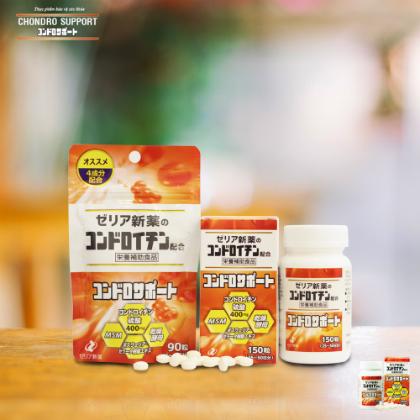 Chondro Support - thực phẩm chức năng bổ trợ sụn khớp từ Nhật Bản đã có mặt tại Việt Nam. Gói 90 viên giá 396.000 đồng; hộp 150 viên có giá 594.000 đồng.