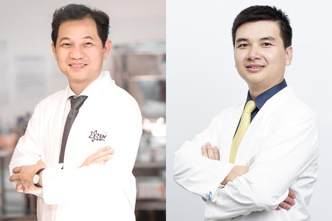 Bác sĩ Phạm Xuân Khiêm - Giám đốc Bệnh viện thẩm mỹ Emcas (trái) và bác sĩ Đoàn Duy Dũng - Giám đốc chuyên môn Bệnh viện thẩm mỹ Emcas (phải) sẽ trả lời mọi câu hỏi của độc giả.