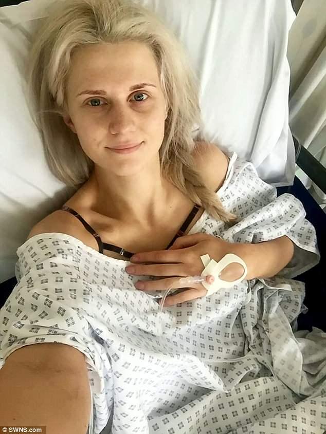 Taylor quyết định cắt bỏ vú để ngăn ngừa ung thư. Ảnh: SWNS.