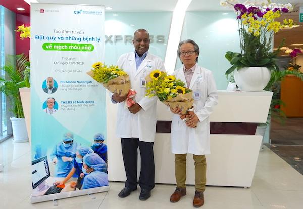Bác sĩ Mahen Nadarajah, chuyên khoa Can thiệp mạch máu, Bệnh viện Quốc tế City Thạc sĩ, bác sĩ Lê Minh Quang, chuyên khoa Nội tổng quát - Tiểu đường, Bệnh viện Quốc tế City