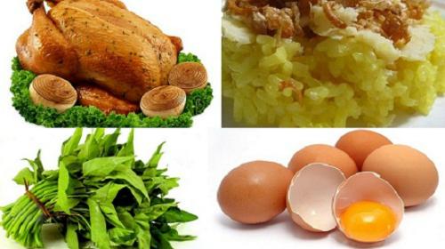 Bạn không nên ăn thức ăn được chế biến từ hải sản, trứng, rau muống& để tránh tình trạng sưng, mủ.