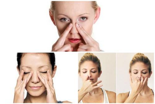 Massage nhẹ nhàng để tạo độ mềm mại cho chiếc mũi