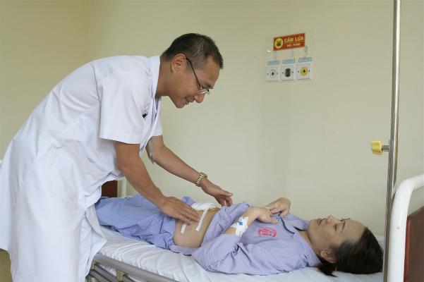 Bệnh nhân ổn định sau phẫu thuật. Ảnh: Bệnh viện cung cấp.