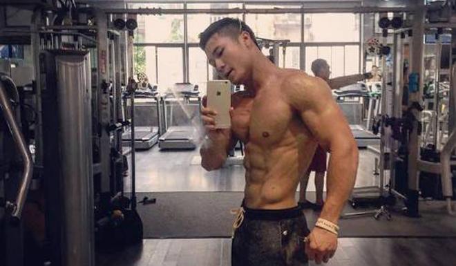 Phạm Ngọc Kiên sở hữu hình thể cơ bắp, giảm 20 kg so với trước. Ảnh: C.K