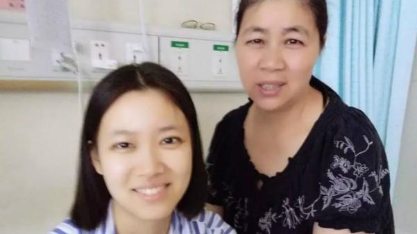 Mẹ con bà Zhang. Ảnh: Scmp.