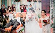 Bố ung thư nằm cáng đưa con gái vào lễ đường