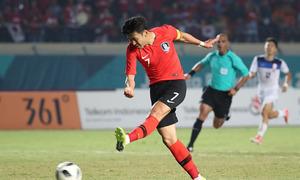 Đội hình đều cao trên 1,7m của các cầu thủ Hàn Quốc