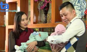 Đôi vợ chồng đón cặp song sinh sau 3 năm dài mong con