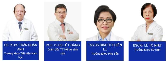 Trung tâm Hỗ trợ Sinh sản IVFTA, Khoa Phụ sản, Khoa Tiết niệu  Nam học và Khoa Sơ sinh đều là những khoa mũi nhọn của Bệnh viện Tâm Anh, do các chuyên gia đầu ngành dẫn dắt.