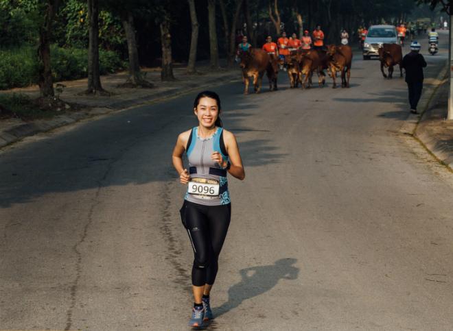 Yến tại giải Long Biên Marathon 2017. Ảnh: Phương Phạm.