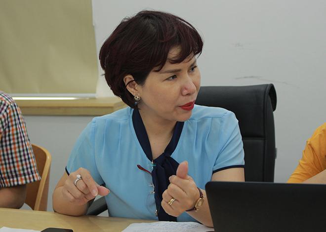 Bà Trần Thị Nhị Hà, Phó Giám đốc Sở Y tế Hà Nội.