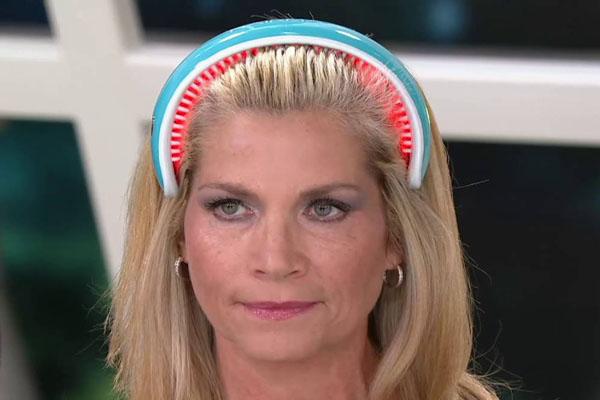 Những răng lược giữ thiết bịcố định trên da đầu cho phép tia laser chiếu trực tiếp vào các nang tóc. Ảnh: YT