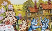Chứng tâm thần phân liệt của họa sĩ Louis Wain qua tranh vẽ mèo